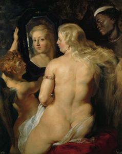Ein Gemälde des Malers Rubens, das eine kurvige Frau zeigt