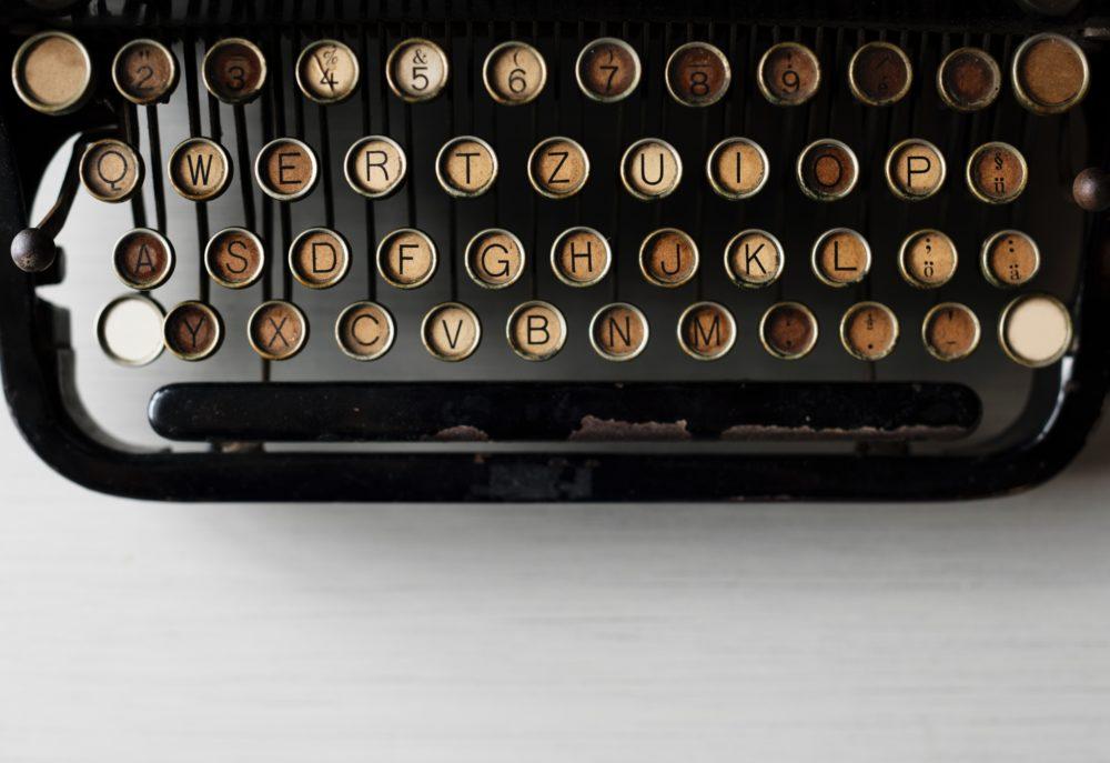 Nahaufnahme einer Schreibmaschine