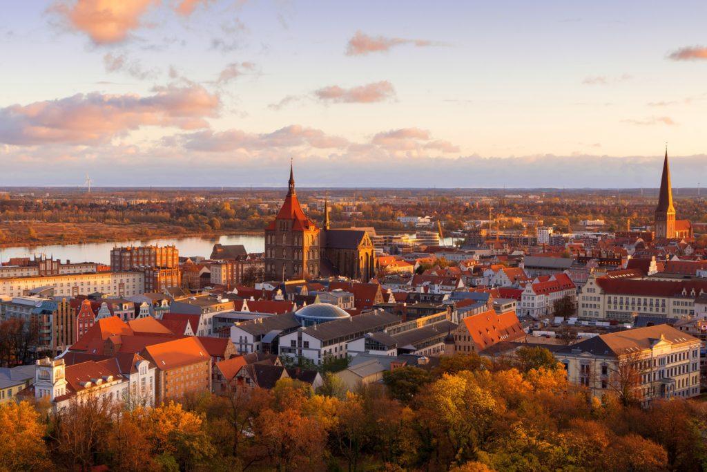 Sonnenaufgang in Rostock