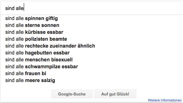 Eingabemaske der Suchmaschine Google