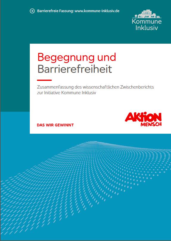 """Deckblatt der Broschüre """"Begegnung und Barrierefreiheit"""""""